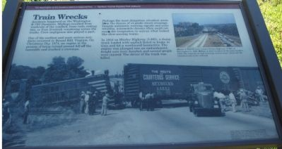 Train Wrecks Marker Photo, Click for full size