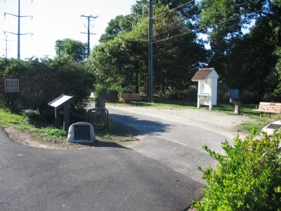 The Marker is Near a Rest Area on the Trail Photo, Click for full size