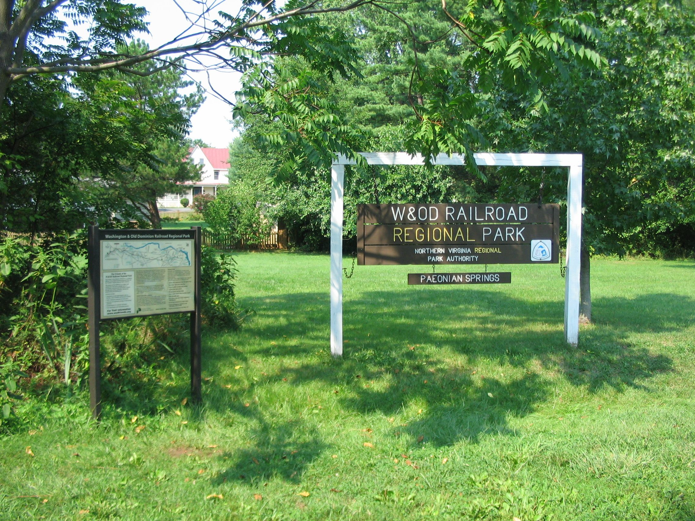 Nearby Trailhead Sign and Informational Display