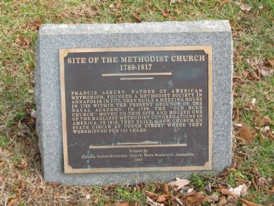 Site of the Methodist Church Marker image. Click for full size.