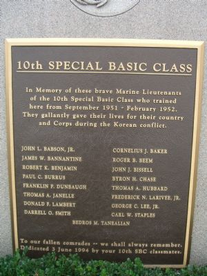 10th Special Basic Class Marker image. Click for full size.