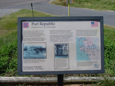 Port Republic Marker Photo, Click for full size
