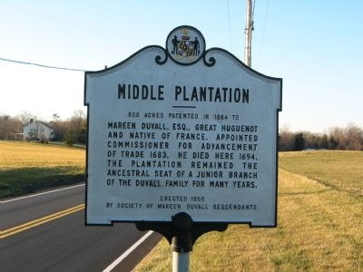 Middle Plantation Marker Photo, Click for full size