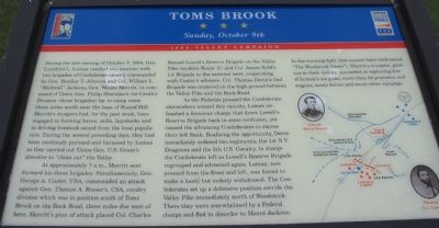 Toms Brook Marker Photo, Click for full size