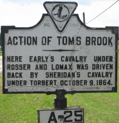 Action of Toms Brook Marker image. Click for full size.