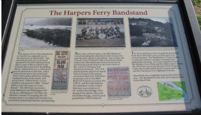 The Harpers Ferry Bandstand Marker image. Click for full size.
