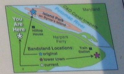Map Detailing the Movements of the Bandstand image. Click for full size.
