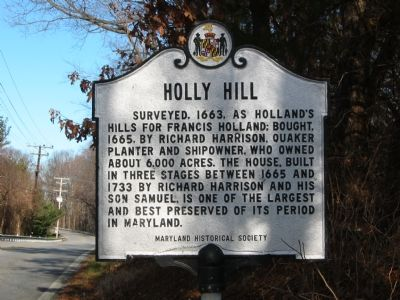 Holly Hill Marker Photo, Click for full size