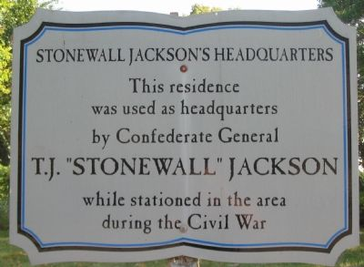Stonewall Jackson's Headquarters Marker image. Click for full size.