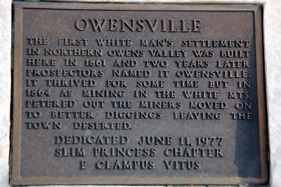 Owensville Marker image. Click for full size.