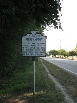 York County/Warwick County Marker image. Click for full size.