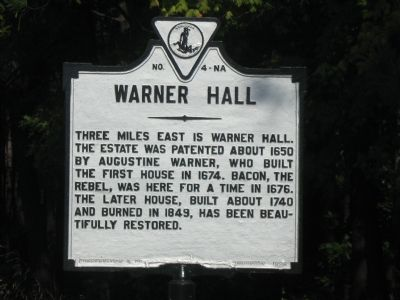 Warner Hall Marker Photo, Click for full size