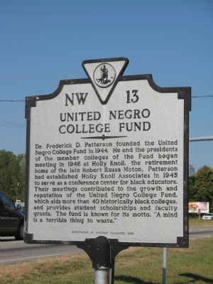 United Negro College Fund Marker image. Click for full size.