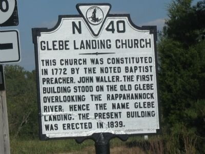 Glebe Landing Church Marker image. Click for full size.