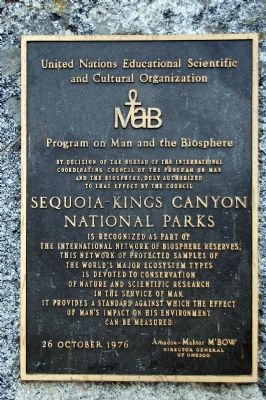 Sequoia-Kings Canyon National Parks Marker image. Click for full size.