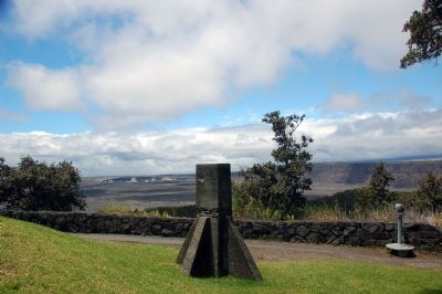 Site of Hawaiian Volcano Observatory Marker image. Click for full size.