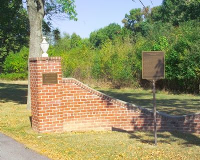 Marker and Plaque at Entrance image. Click for full size.