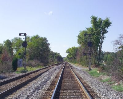 Baltimore and Ohio Railroad (now CSX) near site of former Ammendale station. image. Click for full size.