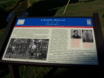 "Union Mills ""Shining lights"" Marker image. Click for full size."