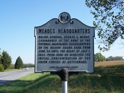 Meade's Headquarters Marker image. Click for full size.