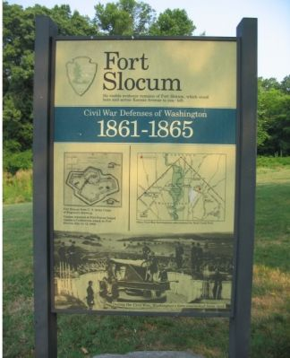 Fort Slocum Marker image. Click for full size.