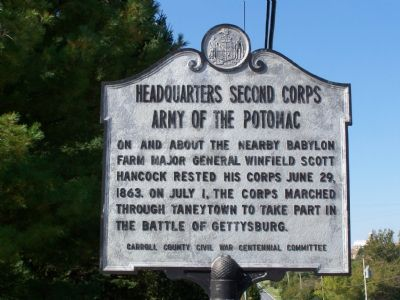 Headquarters Second Corps Army of the Potomac Marker image. Click for full size.