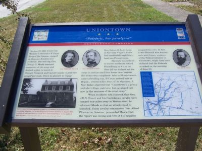 "Uniontown ""Patriotic, but paralyzed"" Marker image. Click for full size."