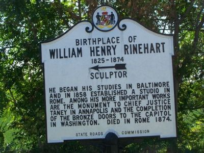 Birthplace of William Henry Rinehart 1825 - 1874 Sculptor Marker Photo, Click for full size