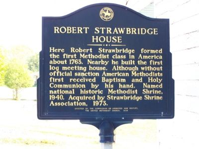 Robert Strawbridge House Marker image. Click for full size.