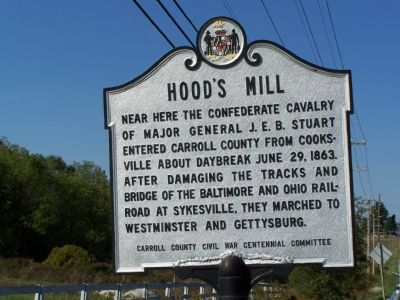 Hood's Mill Marker image. Click for full size.