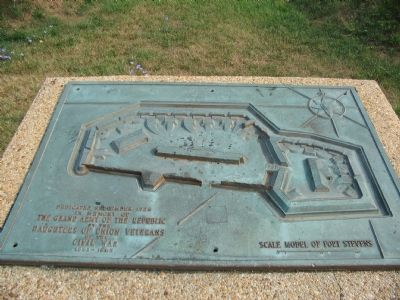 Scale Model of Fort Stevens Photo, Click for full size