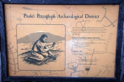 Puako Petroglyph Archaeological District Marker image. Click for full size.