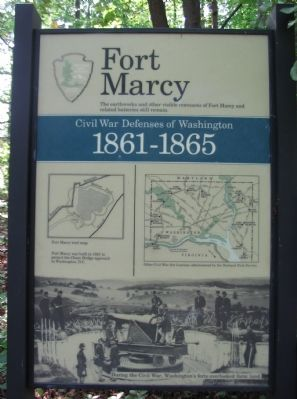 Fort Marcy Marker image. Click for full size.