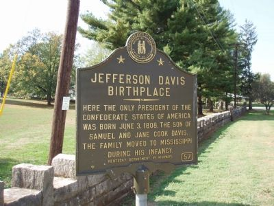 Jefferson Davis Birthplace - Looking West. image. Click for full size.