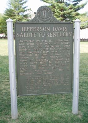 Jefferson Davis' Salute to Kentucky - Looking East. image. Click for full size.