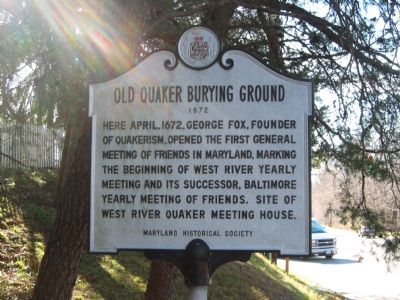 Old Quaker Burying Ground Marker Photo, Click for full size
