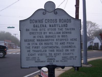 Downs' Cross Roads Galena, Maryland Marker image. Click for full size.