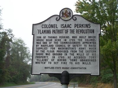Colonel Isaac Perkins Patriot of the Revolution Marker image. Click for full size.