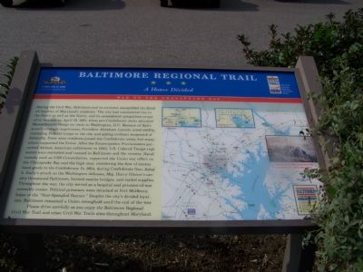 Baltimore Regional Trail A House Divided Marker image. Click for full size.