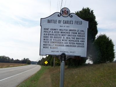 Battle of Caulk's Field Marker Photo, Click for full size