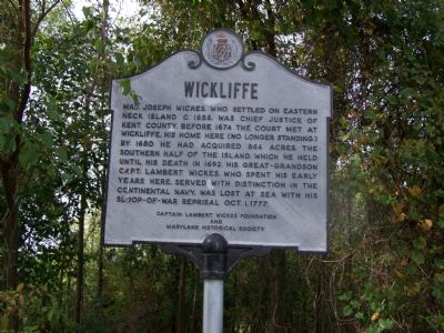 Wickliffe Marker Photo, Click for full size