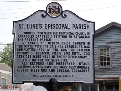 St. Luke's Episcopal Parish Marker Photo, Click for full size