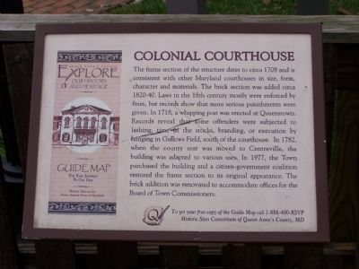 Colonial Courthouse Marker image. Click for full size.