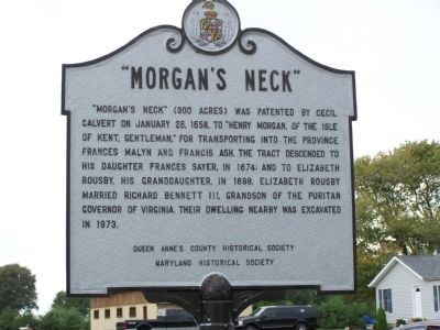 """Morgan's Neck"" Face of Marker image. Click for full size."