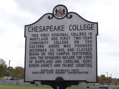 Chesapeake College Marker image. Click for full size.
