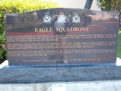 Eagle Squadrons Marker image. Click for full size.