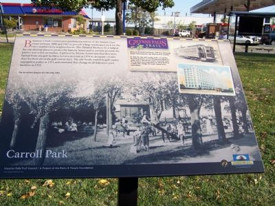 Carroll Park Marker Photo, Click for full size