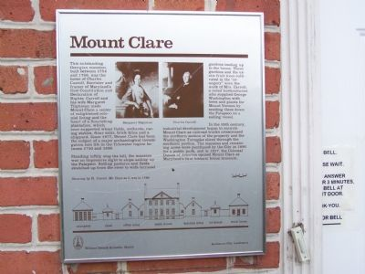 Mt. Clare Marker image. Click for full size.