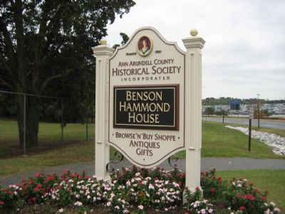 Sign for the Benson-Hammond House image. Click for full size.