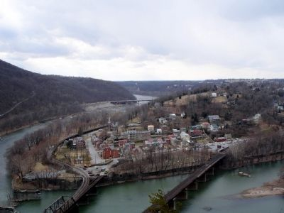 Harpers Ferry from Maryland Heights image. Click for full size.